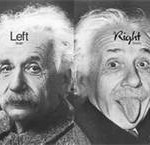 einstein, right brain left brain