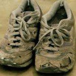 old running shoes