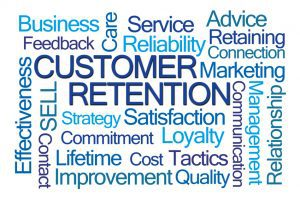 Customer Retention Word Cloud