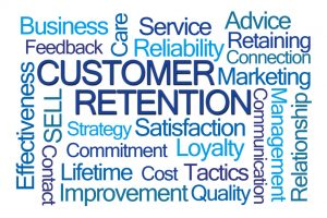 Customer Retention Word Cloud