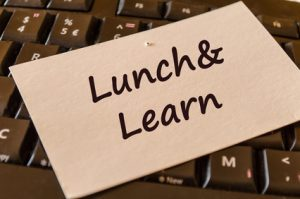 Lunch and learn text note